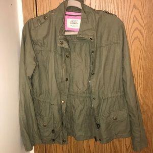ashley outwear utility green jacket